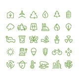 Energy Nature And Environment Symbols Collection Stock