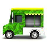 Eco green food truck side Royalty Free Stock Photography