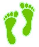 Eco green footprints Royalty Free Stock Photos