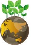 Eco green globe nature concept Stock Image