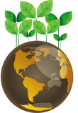 Eco green globe nature concept Royalty Free Stock Photos