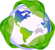 Eco green globe nature concept Stock Image