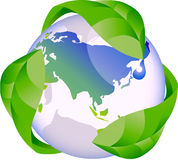 Eco green globe nature concept Royalty Free Stock Image