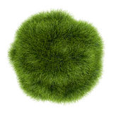 Eco Green Grass Sphere on White Background Royalty Free Stock Images