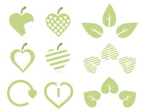 Eco green hearts Stock Photos