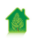 Eco green home Stock Images