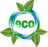 Eco green icon Royalty Free Stock Image