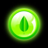 Eco green icon Stock Image