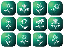 Eco green icons. Royalty Free Stock Images