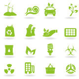 Eco and green icons Stock Image