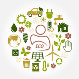 Eco green icons Stock Images