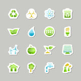 Eco green icons set. For user interface design isolated vector illustration Royalty Free Stock Image