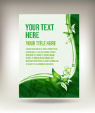 Eco green leaf flyer design Royalty Free Stock Image