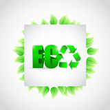 Eco green leaves sign illustration design Royalty Free Stock Photos
