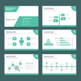 ECO green multipurpose infographic element flat design set for presentation Stock Photo