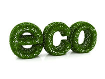 ECO green nature 3d text Stock Photos