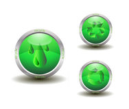 Eco Green Recycle Icon Royalty Free Stock Photos