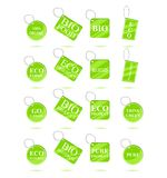 Eco Green Recycle Tags Stock Photos