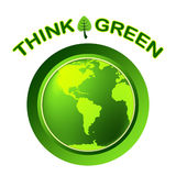 Eco Green Represents Think About It And Conservation Stock Photography