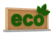 Eco green sign Stock Photography