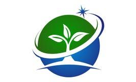 Eco Green Success. Logo Design Template Vector Stock Photo