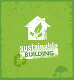Eco Green Sustainable Living Creative Organic Vector Banner Concept On Rough Background Royalty Free Stock Images