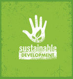 Eco Green Sustainable Living Creative Organic Vector Banner Concept On Rough Background Royalty Free Stock Image
