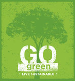 Eco Green Sustainable Living Creative Organic Vector Banner Concept On Rough Background Stock Image