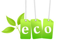 Eco green tag Royalty Free Stock Images