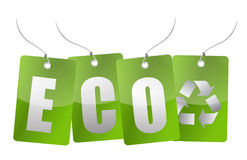 Eco green tags Stock Photos