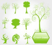 Eco green trees Stock Photo