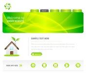 Eco Green Website. Elegant Green Ecological Website Template Stock Photo