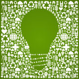 Eco green world ideas background Royalty Free Stock Photography