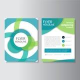 Eco grünen Vektorjahresbericht Broschüren-Broschüren-Fliegerschablonendesign, Bucheinband-Plandesign, abstrakte Darstellungsschab Stockfotos