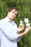 Eco-guy stock photos