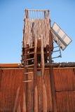 Eco-Häuschen in Botswana Lizenzfreies Stockbild