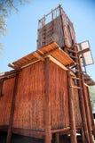 Eco-Häuschen in Botswana Lizenzfreie Stockfotos