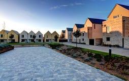 Eco Häuser Stockfoto