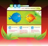 Eco ha interessato il Web site del portafoglio Immagini Stock