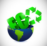 Eco half globe illustration design Royalty Free Stock Image