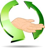 Eco hand. Stock Images