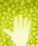 Eco hand background Royalty Free Stock Images
