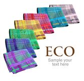 Eco handkerchiefs collection Royalty Free Stock Photo
