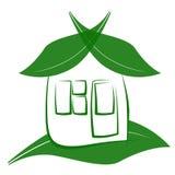 Eco haus 免版税库存图片