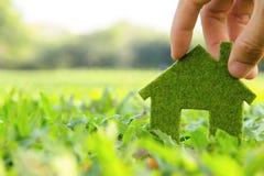 Eco Haus-Ikonenkonzept Lizenzfreie Stockfotos