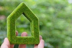 Eco Haus-Ikonenkonzept Lizenzfreie Stockfotografie