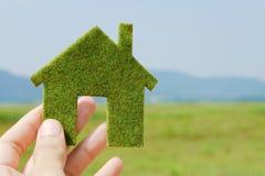 Eco Haus-Ikonenkonzept Stockfotografie