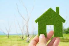 Eco Haus-Ikonenkonzept Lizenzfreie Stockbilder
