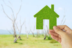 Eco Haus-Ikonenkonzept Stockfoto