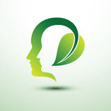 Eco head Royalty Free Stock Images
